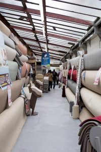 Photograph showcasing the huge range of carpets & flooring at the Southport Carpet Centre showroom held for property developers & landlords.