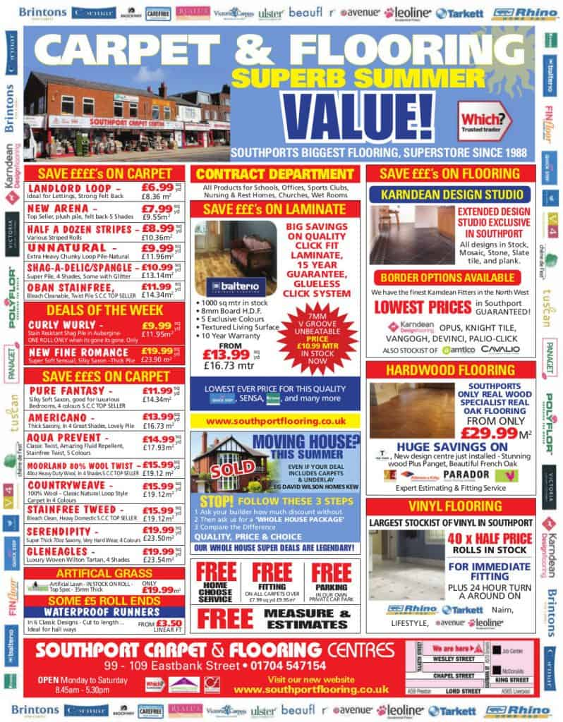 Southport CArpet Centre - Press advert