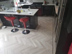 Karndean Knight Tile Herringbone plank from Southport Carpet Centre