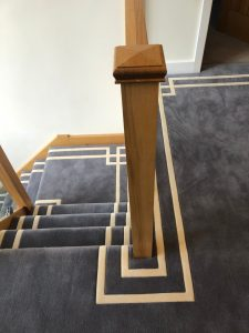 Bespoke hand carved carpet from Southport Carpet Centre